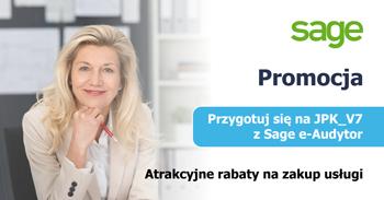"""Promocja SAGE: """"Przygotuj się na JPK_V7 z Sage e-Audytor"""""""