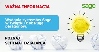 Wydania systemów Sage w związku z obsługą paragonów