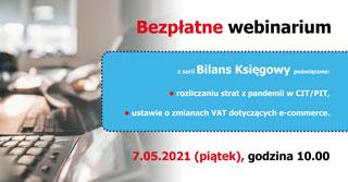 Bezpłatne webinarium – Bilans księgowy – 7 maja 2021 r.